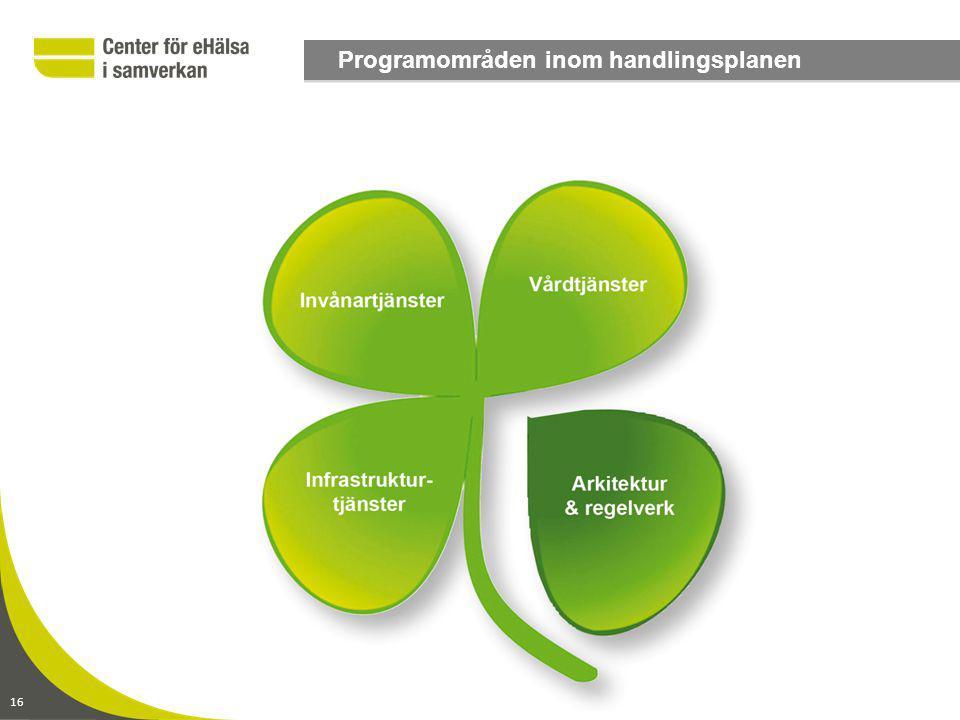 Programområden inom handlingsplanen