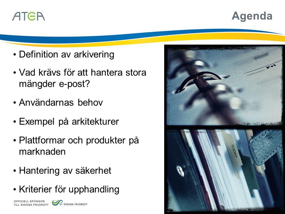 Agenda Definition av arkivering