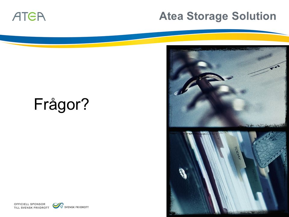Atea Storage Solution Frågor