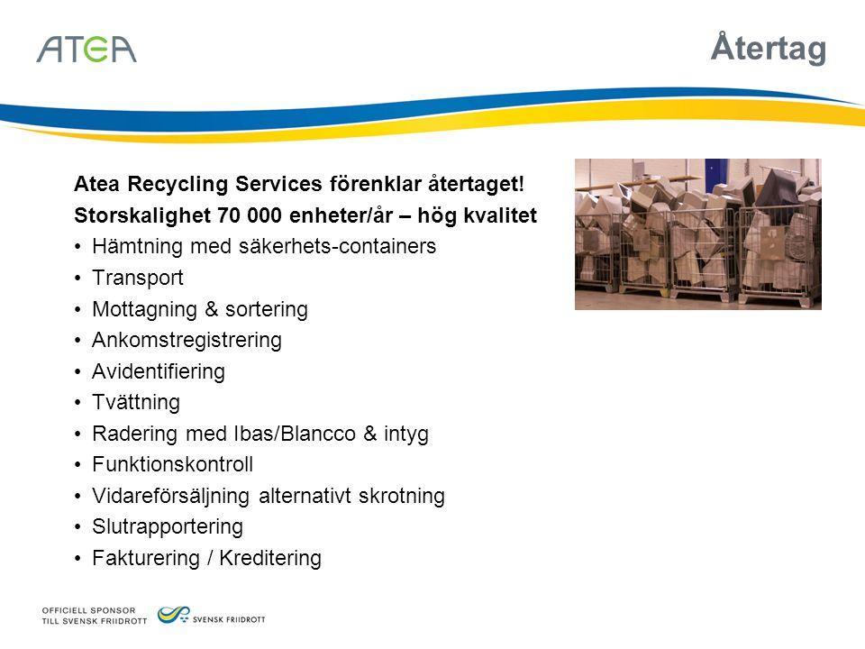 Återtag Atea Recycling Services förenklar återtaget!