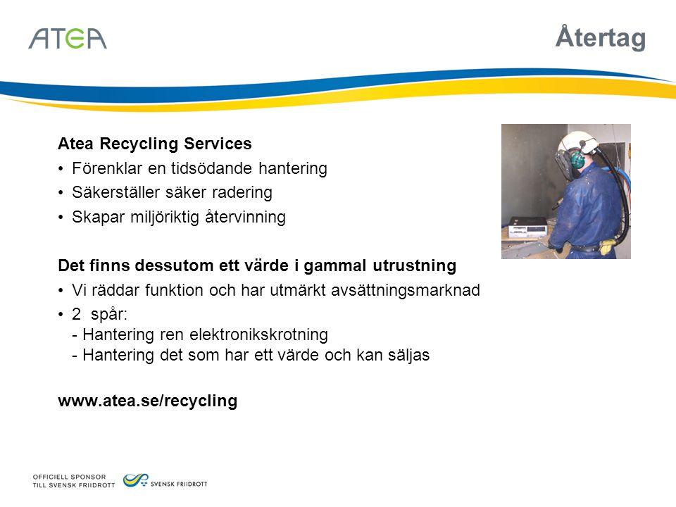 Återtag Atea Recycling Services Förenklar en tidsödande hantering