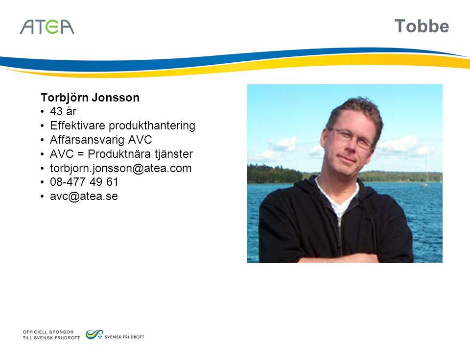 Tobbe Torbjörn Jonsson 43 år Effektivare produkthantering