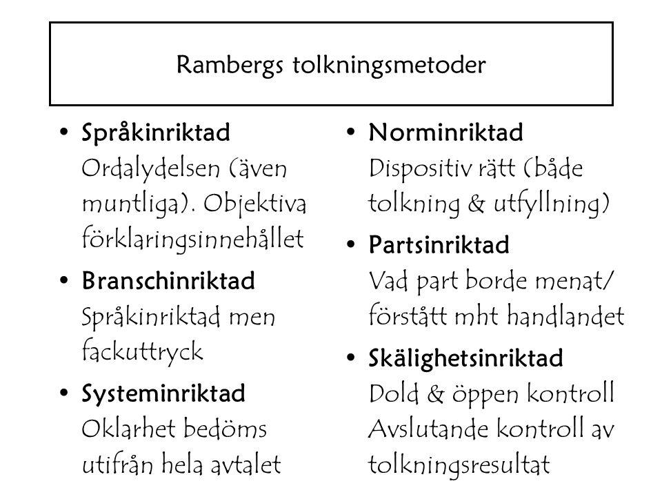 Rambergs tolkningsmetoder
