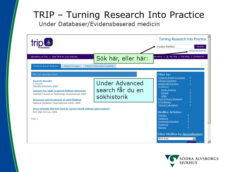 TRIP – Turning Research Into Practice