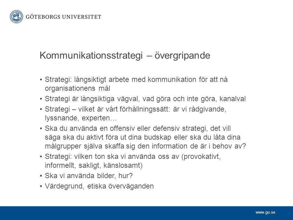 Kommunikationsstrategi – övergripande