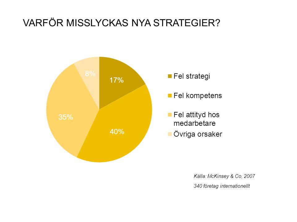 Varför misslyckas nya strategier