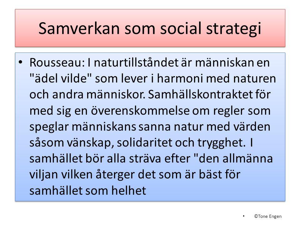 Samverkan som social strategi