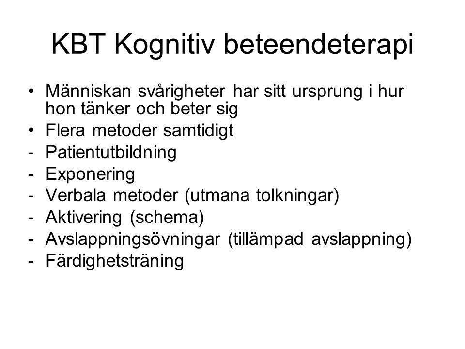 KBT Kognitiv beteendeterapi