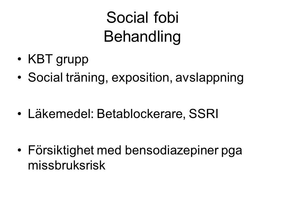 Social fobi Behandling