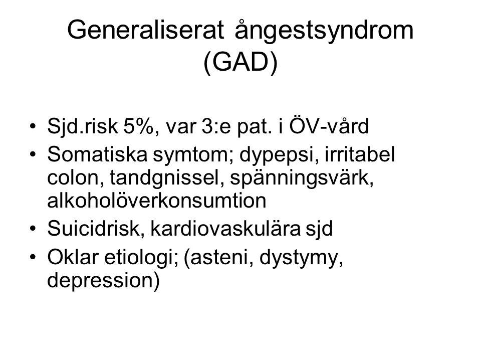 Generaliserat ångestsyndrom (GAD)