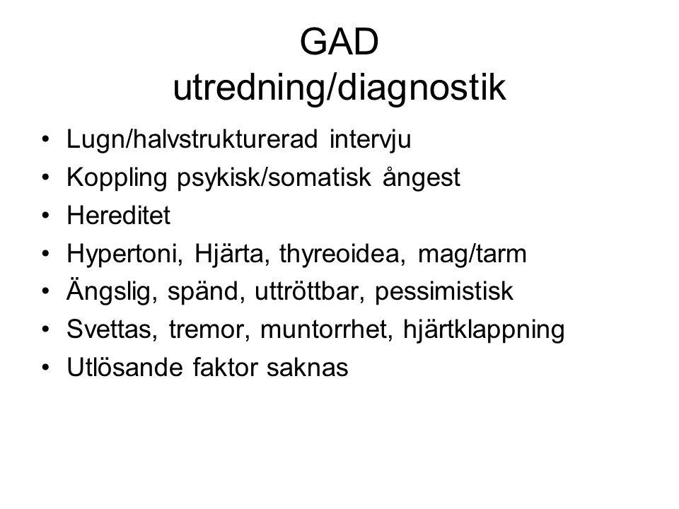 GAD utredning/diagnostik