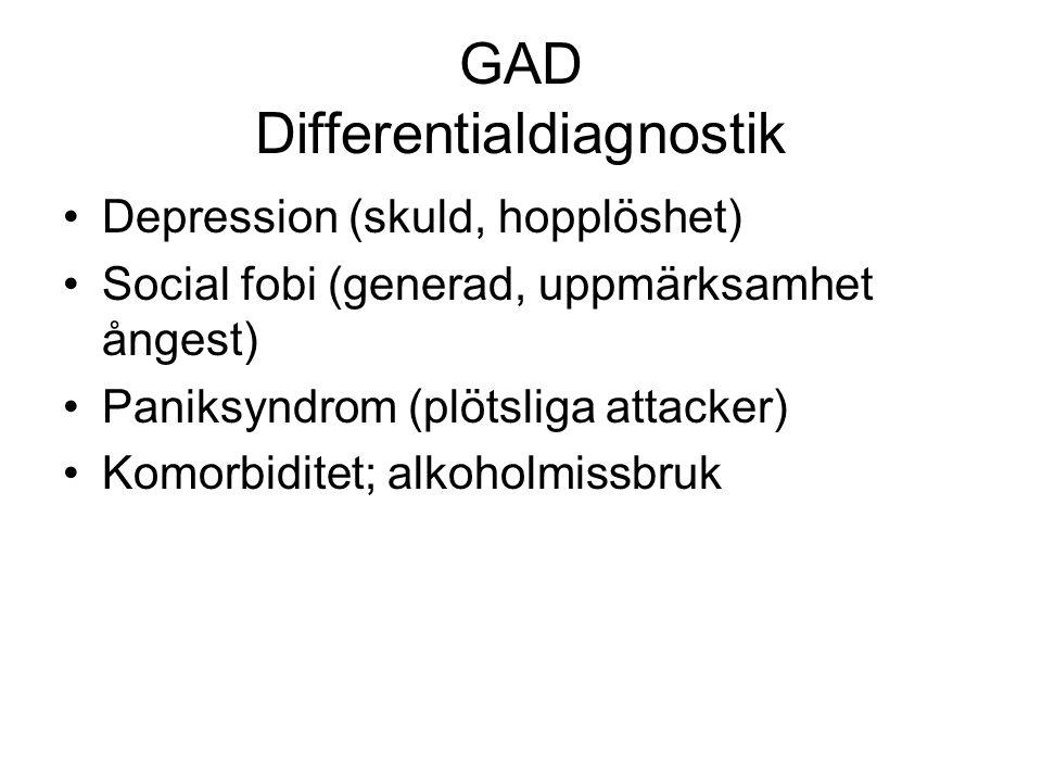 GAD Differentialdiagnostik