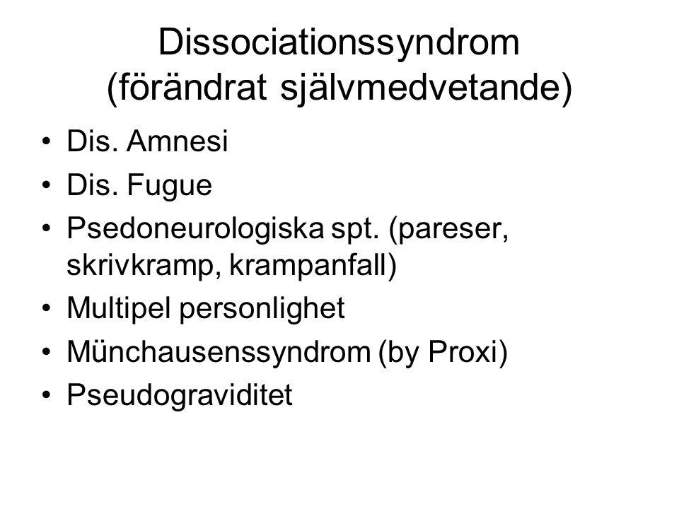 Dissociationssyndrom (förändrat självmedvetande)