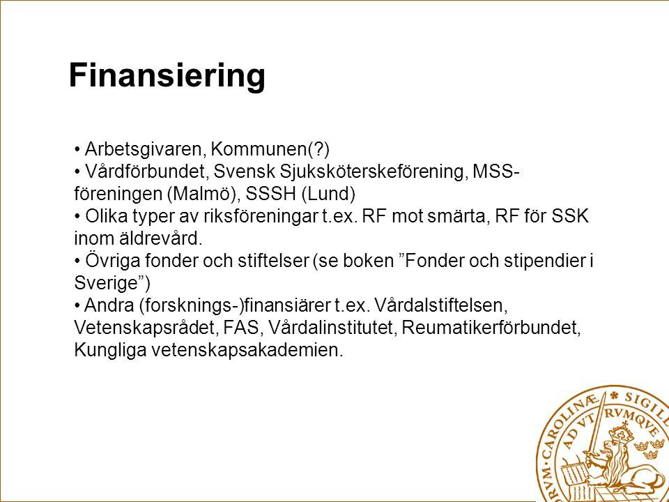 Finansiering Arbetsgivaren, Kommunen( )
