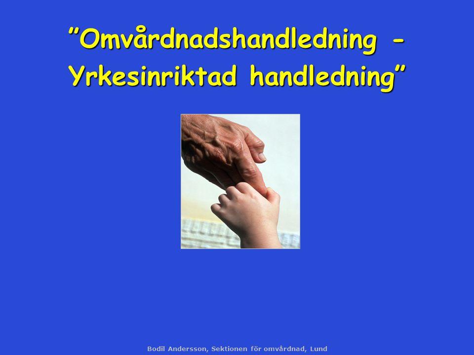 Omvårdnadshandledning - Yrkesinriktad handledning