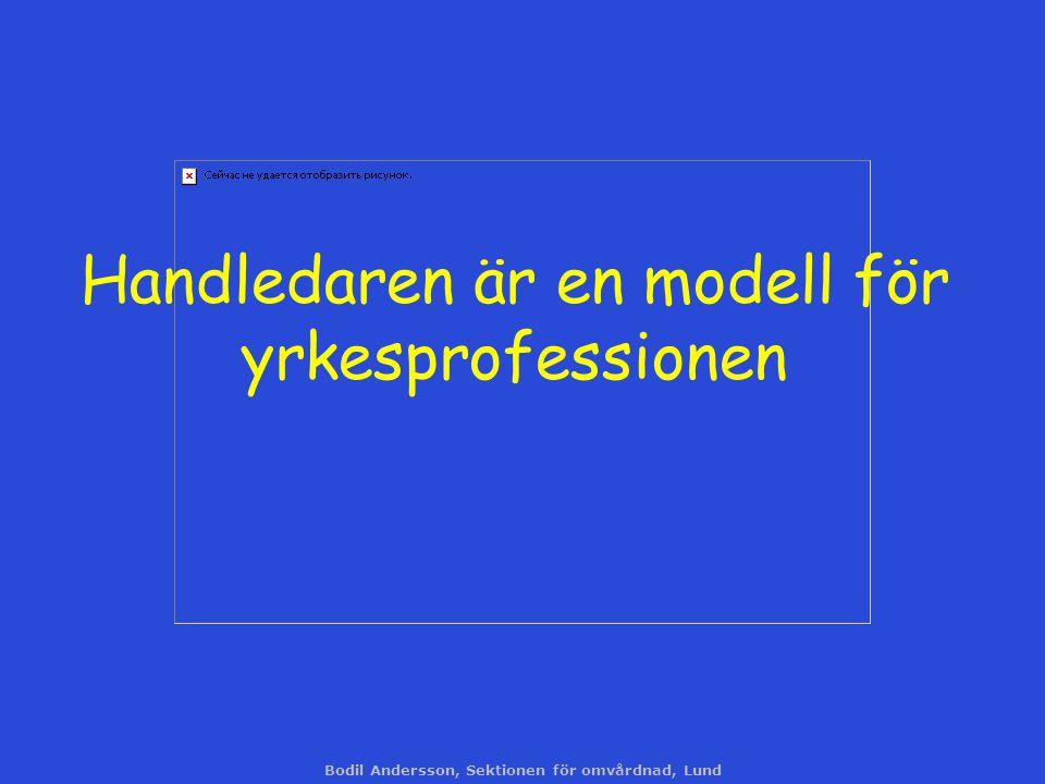 Handledaren är en modell för yrkesprofessionen