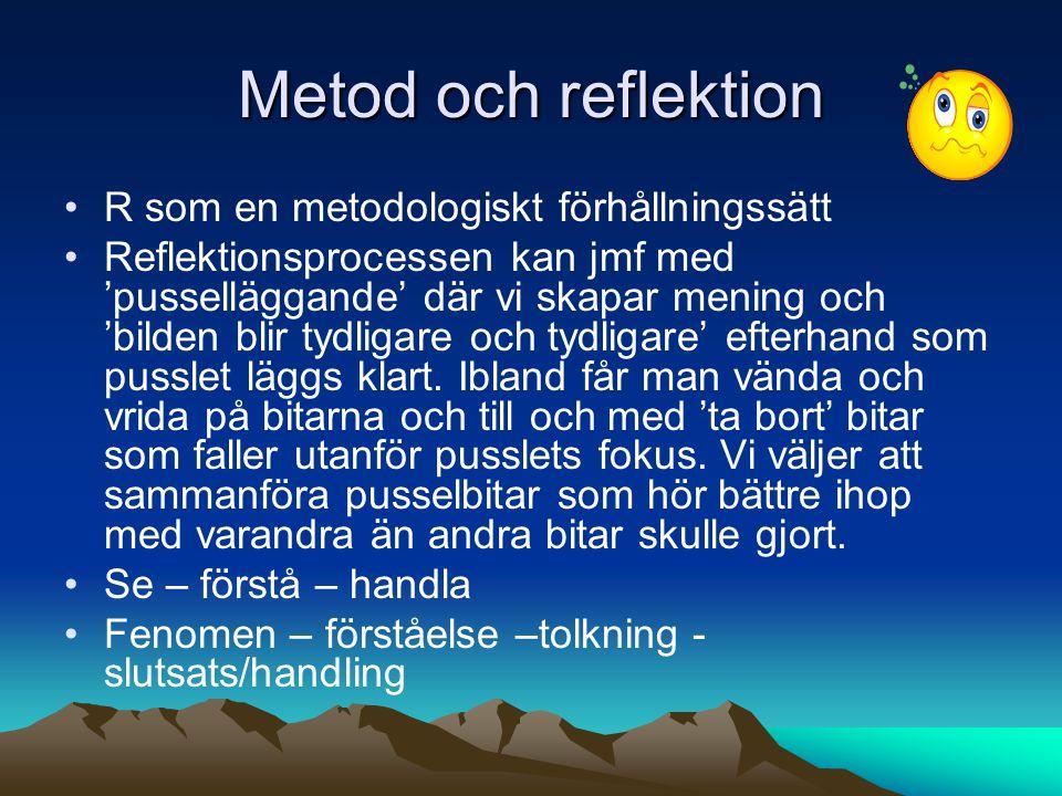 Metod och reflektion R som en metodologiskt förhållningssätt