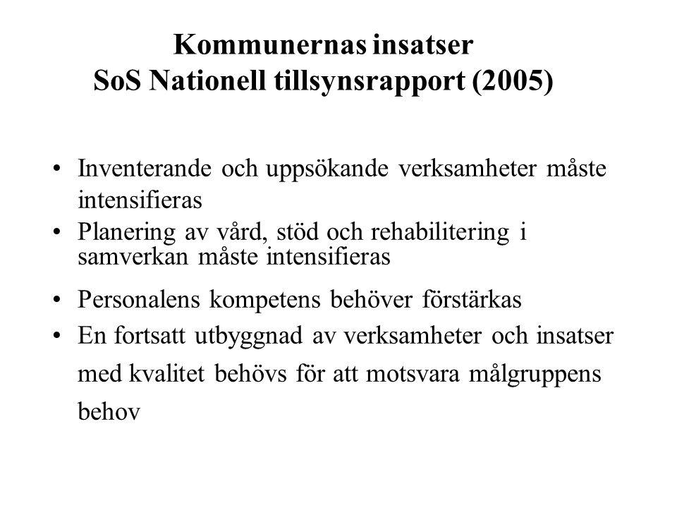 Kommunernas insatser SoS Nationell tillsynsrapport (2005)