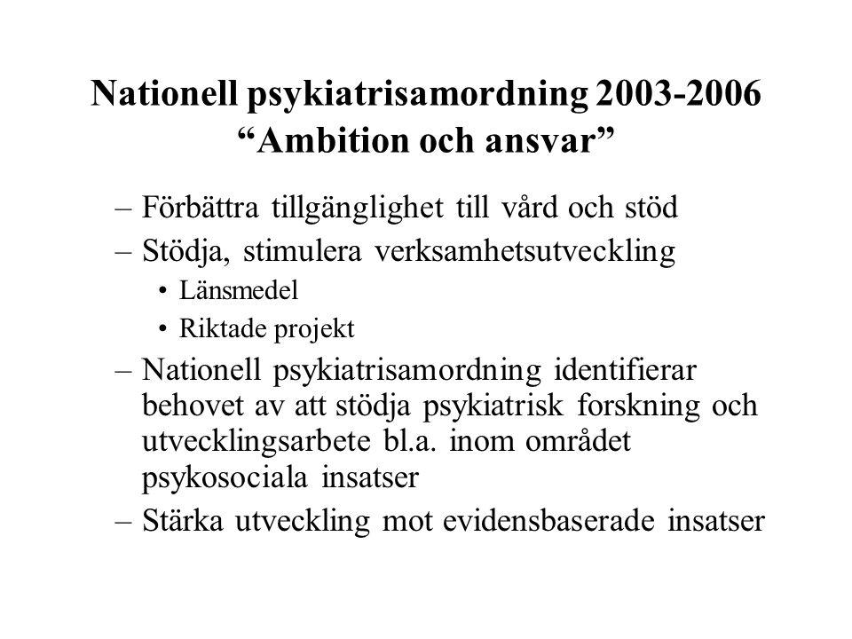 Nationell psykiatrisamordning 2003-2006 Ambition och ansvar