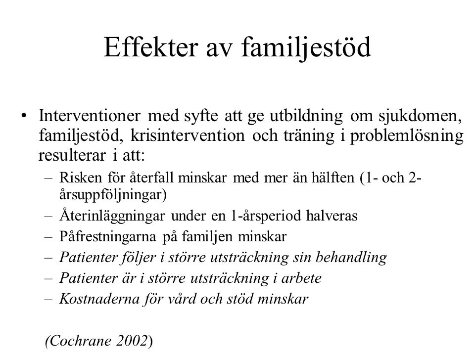 Effekter av familjestöd