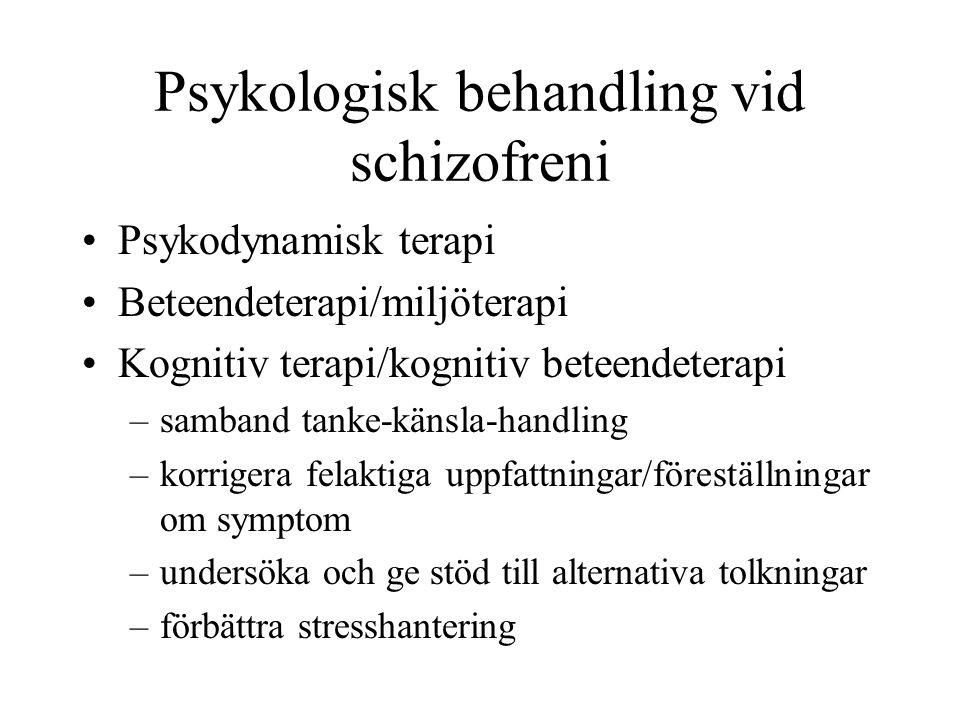Psykologisk behandling vid schizofreni