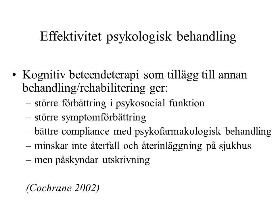 Effektivitet psykologisk behandling