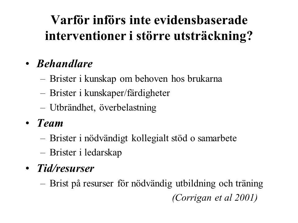 Varför införs inte evidensbaserade interventioner i större utsträckning