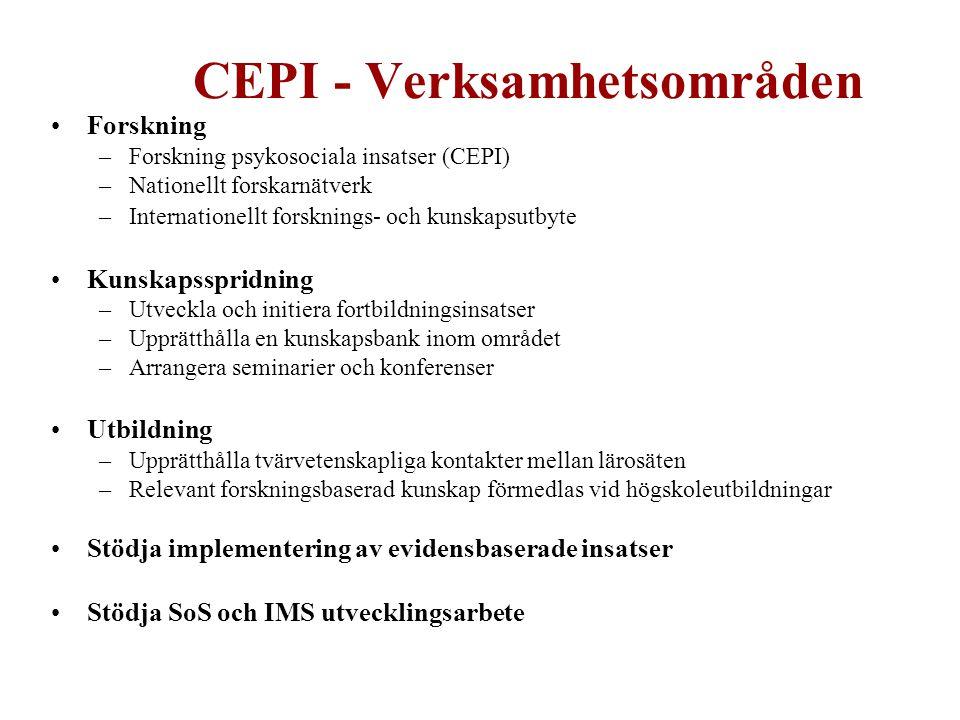 CEPI - Verksamhetsområden