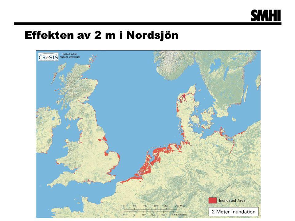 Effekten av 2 m i Nordsjön