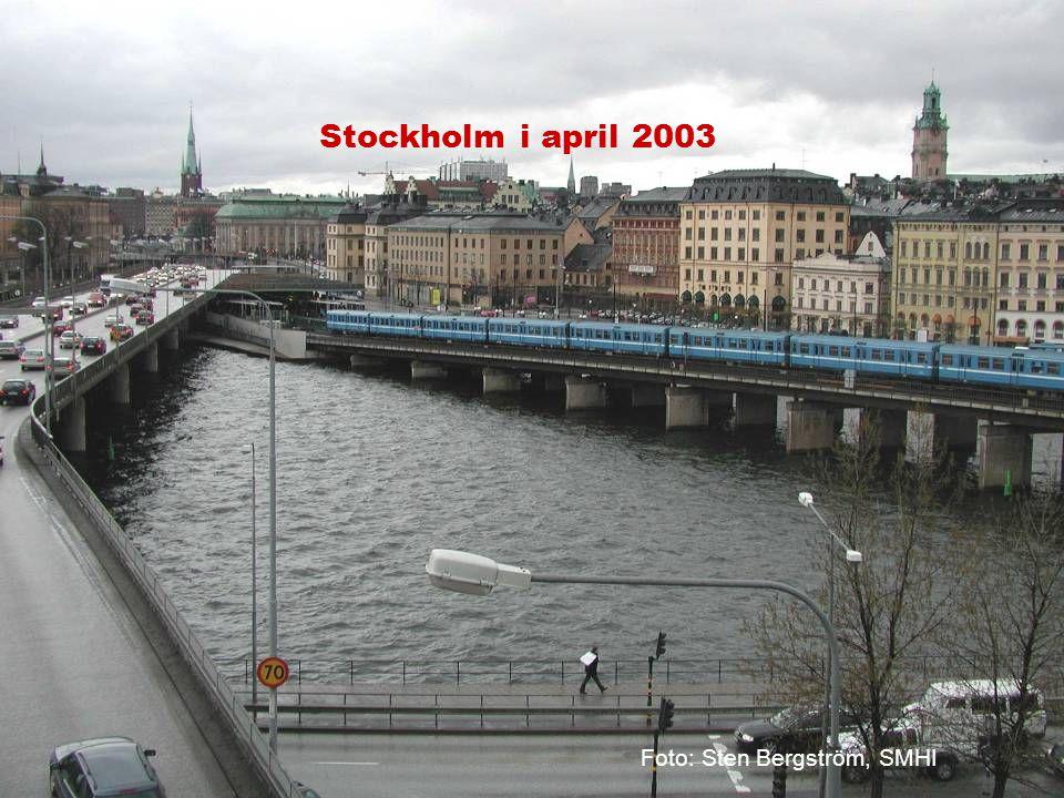 Stockholm i april 2003 Foto: Sten Bergström, SMHI