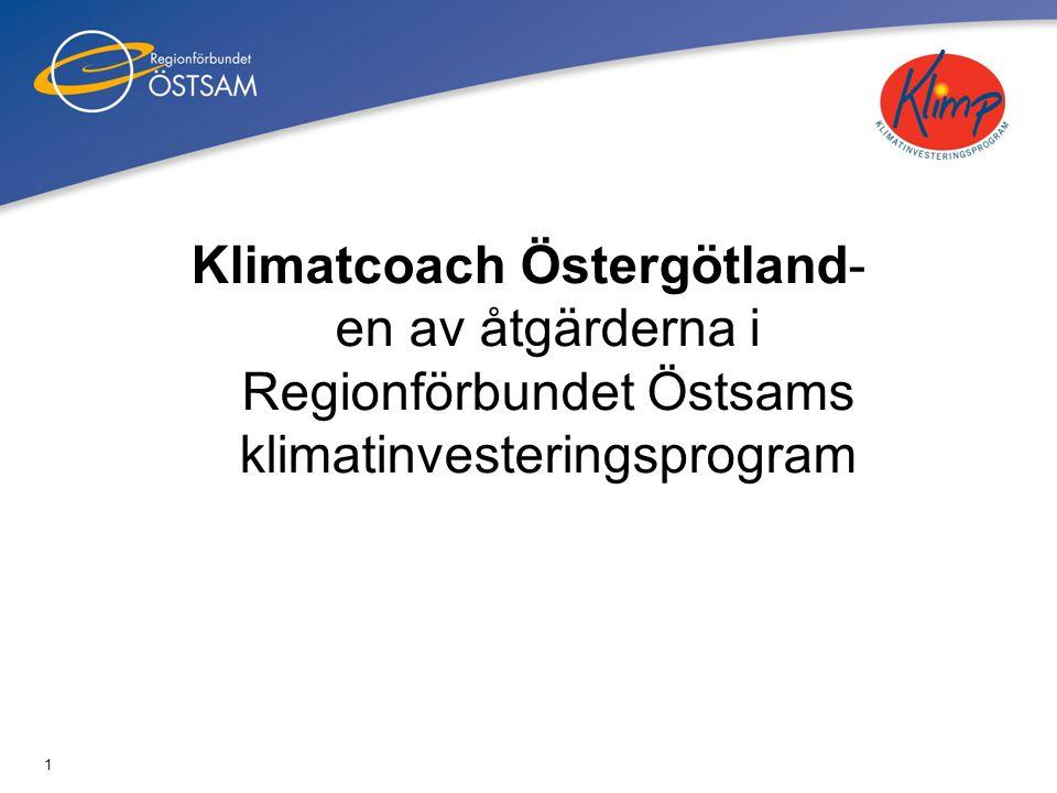Klimatcoach Östergötland- en av åtgärderna i Regionförbundet Östsams klimatinvesteringsprogram