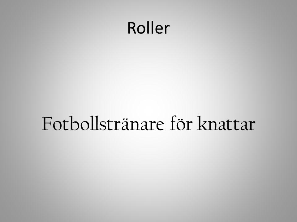 Fotbollstränare för knattar