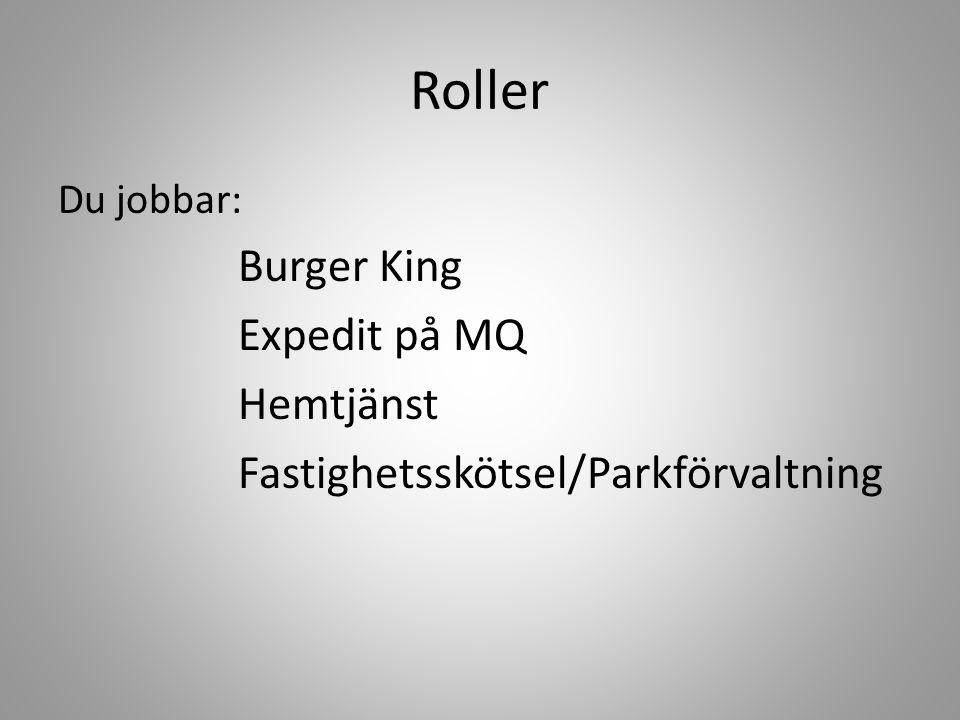 Roller Burger King Expedit på MQ Hemtjänst
