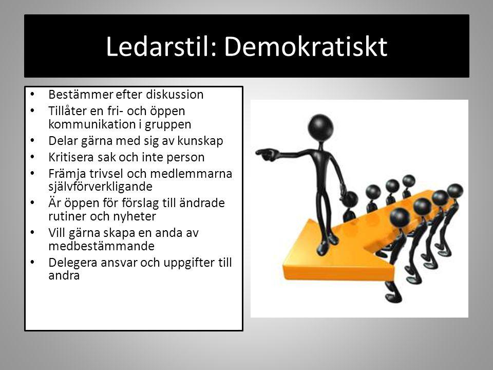 Ledarstil: Demokratiskt