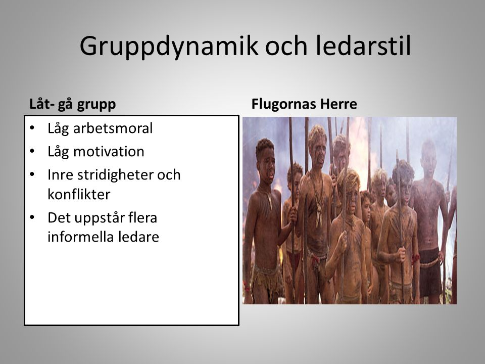 Gruppdynamik och ledarstil