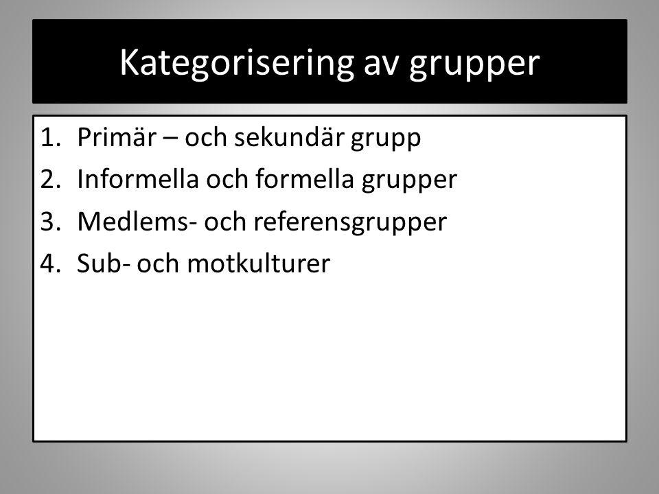 Kategorisering av grupper