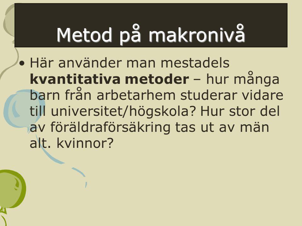 Metod på makronivå