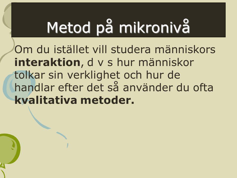Metod på mikronivå