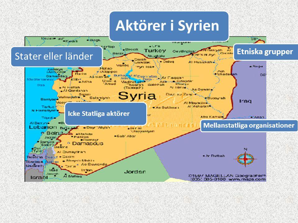 Aktörer i Syrien Stater eller länder Etniska grupper