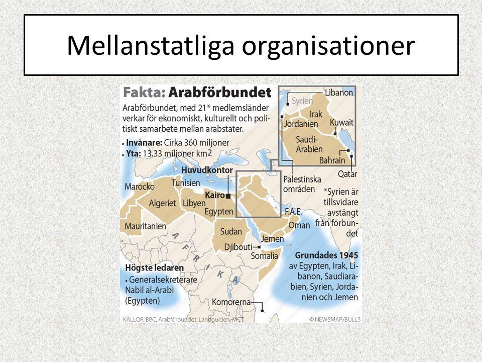 Mellanstatliga organisationer