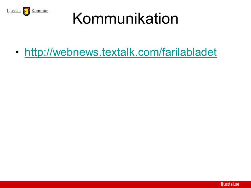 Kommunikation http://webnews.textalk.com/farilabladet