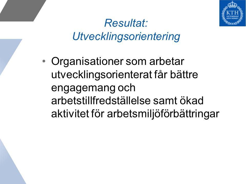 Resultat: Utvecklingsorientering