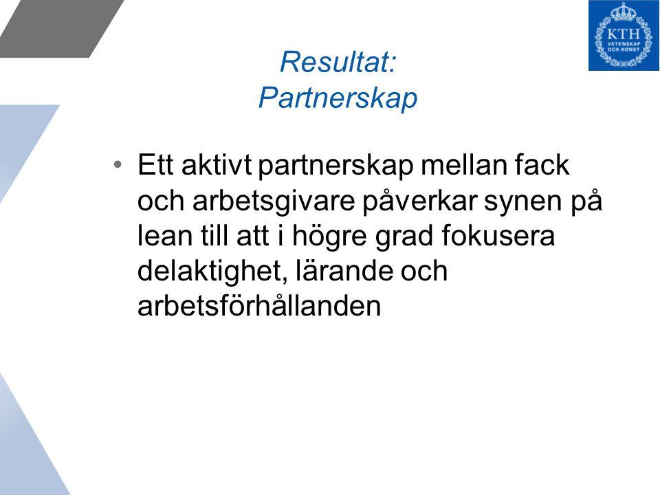 Resultat: Partnerskap