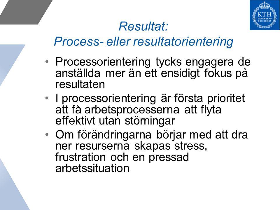 Resultat: Process- eller resultatorientering