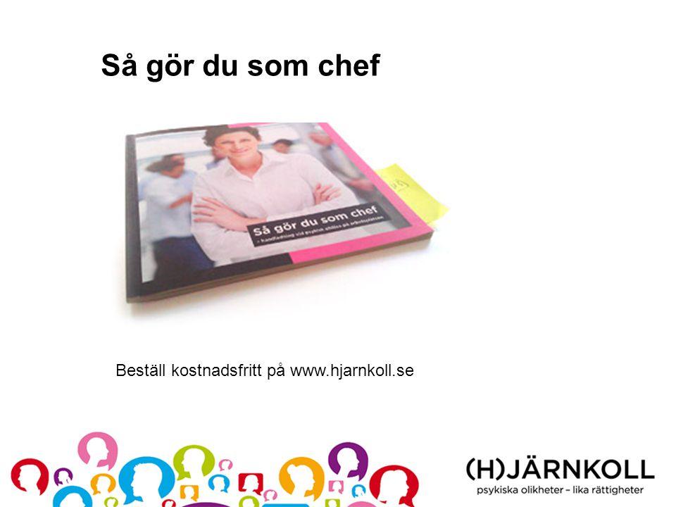 Så gör du som chef Beställ kostnadsfritt på www.hjarnkoll.se