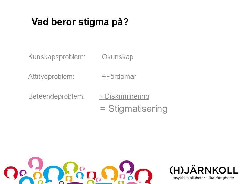 Vad beror stigma på Kunskapsproblem: Okunskap