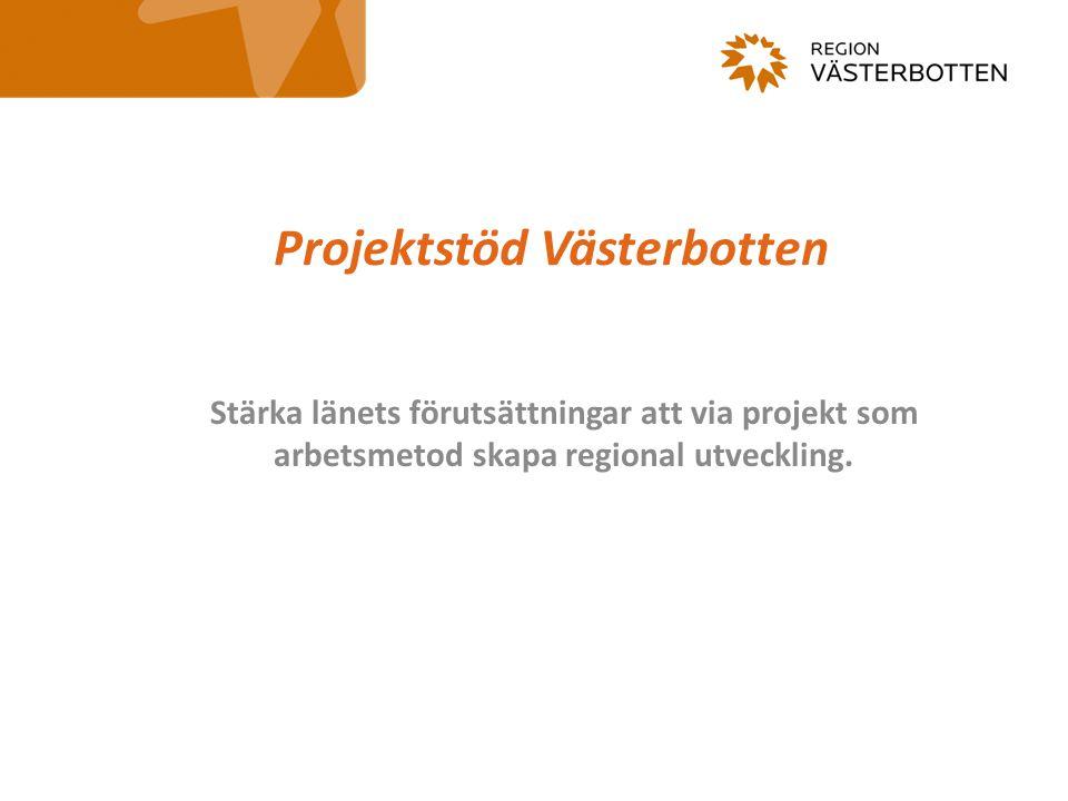 Projektstöd Västerbotten