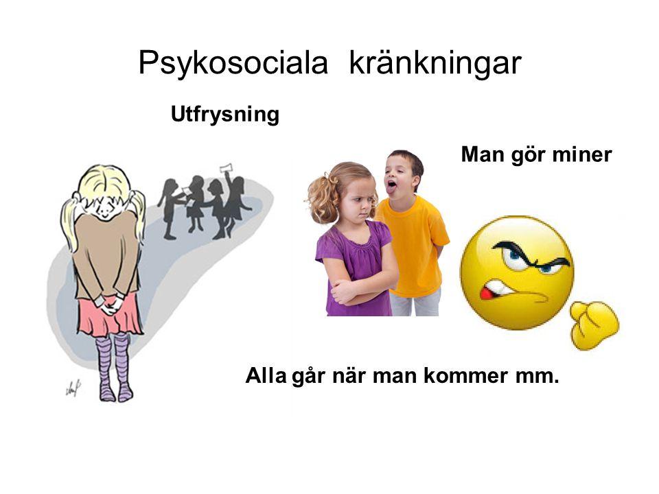 Psykosociala kränkningar