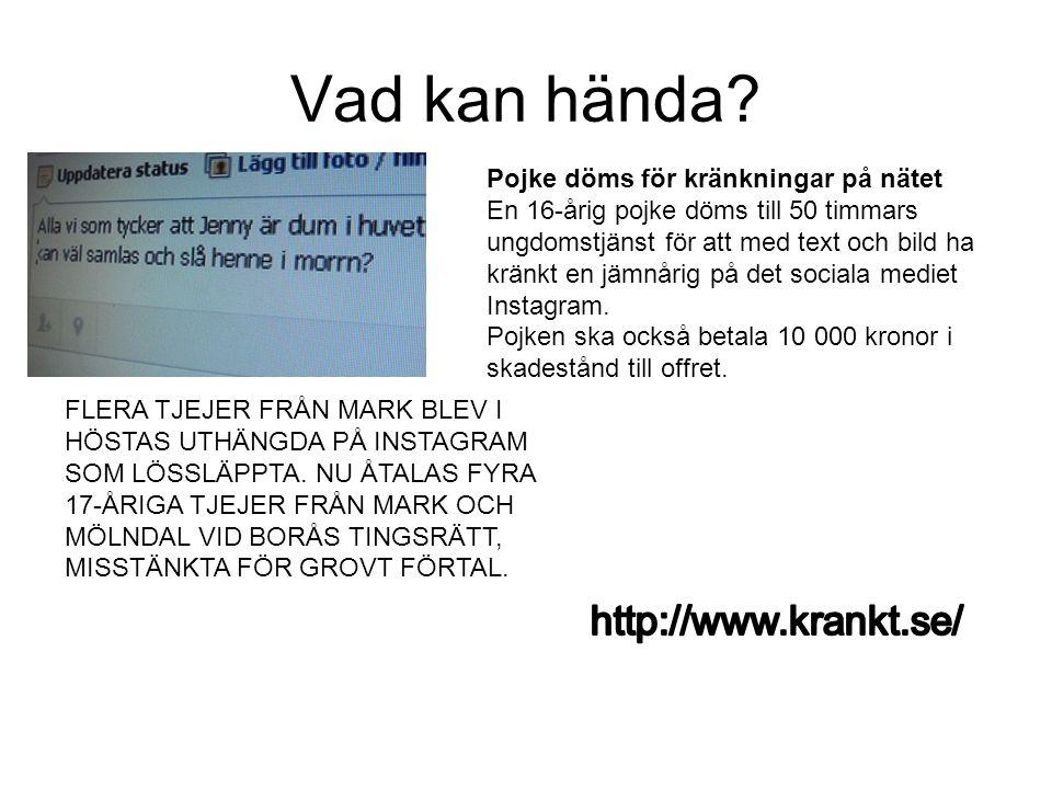 Vad kan hända http://www.krankt.se/