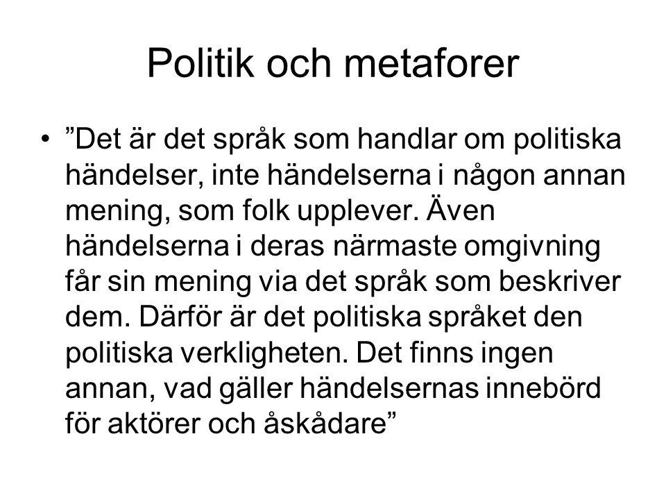 Politik och metaforer